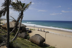 The beach at Jeffs Beach resort Guinjata Mozambique