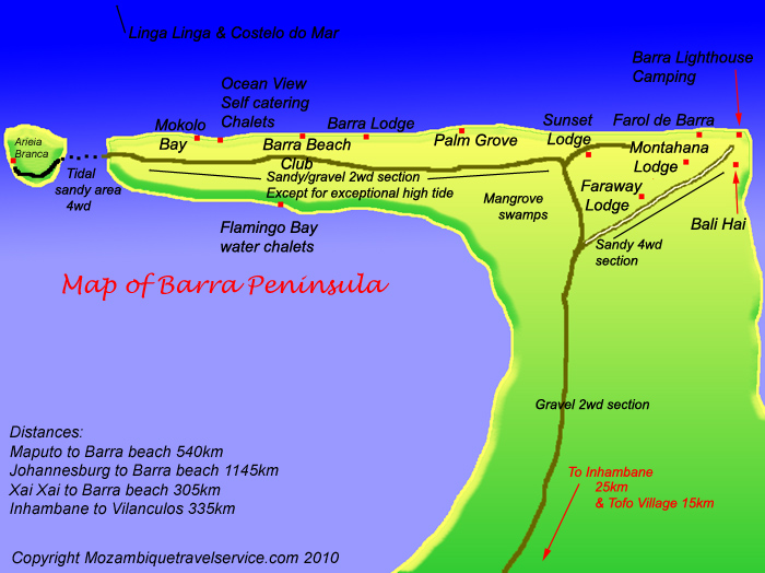 Barra beach map