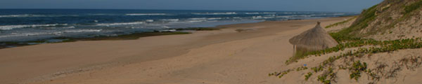 Wide open beaches of Chidenguele Mozambique