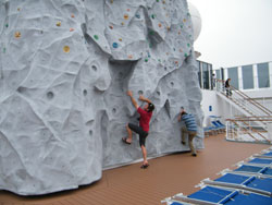 rock climbing wall Sinfonia cruise
